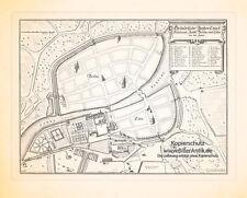 Grundriss der beiden Residenzstätte Berlin und Cölln Kupferstich Merian 0558