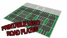 """LEGO 11""""x17"""" Printable Road Plate Parking Lot Dark Gray PDF on CD New style"""