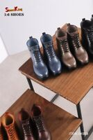 Shoes King 1:6 SK009 Men's High Boots Shoes Fit 12'' Male Action Figure Body Toy