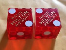 Vintage Pair Of Casino Dice From The Hilton Resort Reno