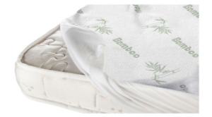 Breathable Fiber Bamboo,Hypoallergenic,Waterproof,Fitted Mattress Protector/Pad