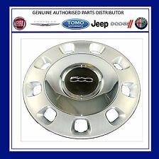 NUOVA FIAT 500 ARGENTO / VINTAGE CHROME centro Genuine ruota rifinitura Set x 4 71804112