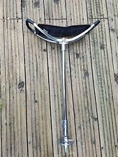 Deluxe brown  Leather  Shooting Walking Stick Seat Charles Buyer New with ferrul