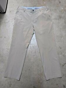 Adidas Mens 35x30 Golf Pants Athletic Fit Loose Elastic Waist Stretch Khaki Tan
