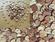 100PCS Holz Herzen Tischdeko Hochzeit Liebe Holzstreuteile Herzchen Streudeko