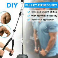 Bearing Pulley Triceps Rope Cable System Home Gym Training Fitness Sport Machine