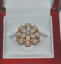Genuine Opal Ring 14k Gold Victorian style