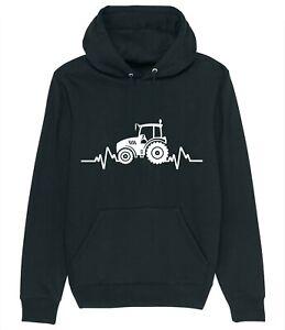 Tractor Heartbeat Pulse Farmer Farming Funny Hoodie