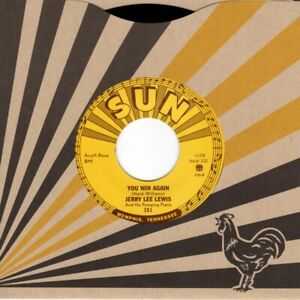 """JERRY LEE LEWIS GREAT BALLS OF FIRE SUN RECORDS VINYL 7"""" SINGLE NEW MINT"""