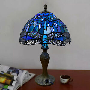 NICE Tiffany Style Stained Glass Flower Table Desk Lamp Shade Home Decoration