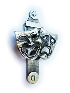 COMEDY & TRAGEDY THEATER DOOR KNOCKER (EXCLUSIVE DESIGN) Solid English Pewter