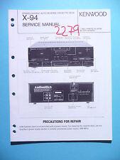 Instrucciones Manual de servicio para Kenwood x-94, original