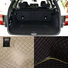 PU Leather Rear Trunk Cargo Liner Protector Mat Seat Back Pad For Subaru Outback
