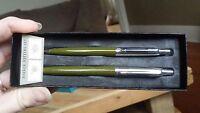 Parker Jotter His & Hers Mini Compact  & Regular Olive Ballpoint Pens Set 1965
