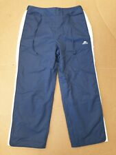 L279 WOMENS ELLESSE BLUE WHITE 3/4 LIGHTWEIGHT TRACKSUIT BOTTOMS UK 12 W30 L23.5