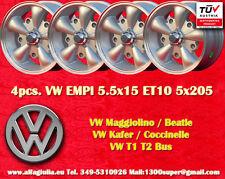 4 Ruedas Aleación de Volkswagen MALVADO 5.5x15 Maggiolino Käfer T1 T2 felgen TUV