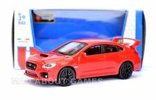 SUBARU WRX STI 1:43 Car Model Diecast Models Cars Die Cast Miniature Red Toy