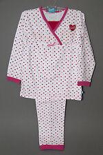 Mädchen Schlafanzug Pyjama Lief! Lifestyle weiß rosa  Gr. 74 / 80 neu