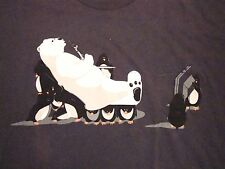 Penguin Servants Polar Bear Hookah Chill Out TV Shirt.woot! T Shirt L