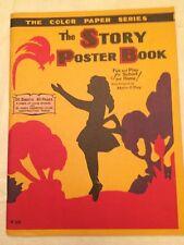 Vtg 20s Childrens Art Book-The Story Poster Book Little Black Sambo Marie O'Day