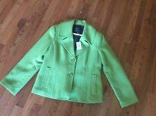 NWT $440 YANSI FUGEL designer women's Officewear suit jacket blazer green SZ 12