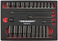 Trident Tools 3/8in Drive 26 Piece Std & Deep Impact Socket Set Metric 8 - 19mm