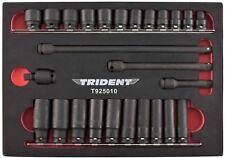 Trident TOOLS 3/8in unidad 26 pieza estándar y profundo impacto Socket Set Métrico 8 - 19 mm