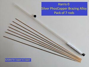 "7x Harris ""0"" RODS Silver Brazing, Sil-Fos Worthington Harris dynaflow Stay-Silv"