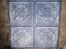 """24"""" x 24"""" Antique Victorian Gothic Ceiling Tin Tile Fleur De Li Gorgeous Chic"""