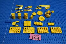 Lego Yellow Plates 2x10 etc, + various modified flat pieces - propellers etc