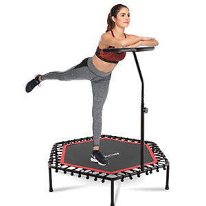 """ANCHEER Mini Trampoline Rebounder for Adults Kids Fitness, 50"""" Cardio Trainer"""