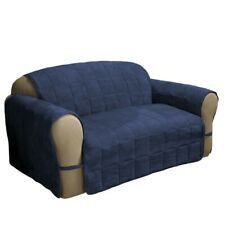 Jeffrey Home Ultimate Faux Navy Suede Loveseat Protector
