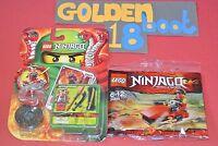 LEGO NINJAGO BUNDLE - Samurai X 9566 & KAI JET DRIFTER 30293 POLY BAG NEW SEALED