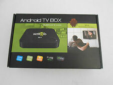 NITROID ANDROID BLACK BOX Quad Core Media STREAMER PLAYER MOVIES TV XD4