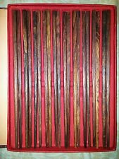 黄花梨老料筷子十双Chinese huanghuali wooden chopsticks unique culture ten pairs文玩收藏品