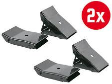 2x 2 Stück Unterlegkeile Metall klappbar Bremskeile PKW Anhänger Radkeile Set
