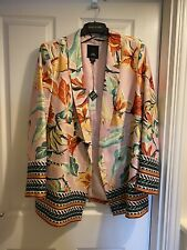 Bn River Island Pink Floral Blazer Jacket Size 18 New