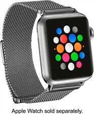 Platinum - Magnetic Stainless Steel Mesh Band for Apple Watch 38mm/40mm - Silver
