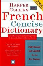 FRENCH CONCISE DICTIONARY PLUS GRAMMAR HARPER COLLINS ENGLISH 2ND ED SOFTCOVER