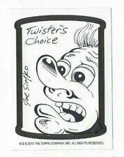 2013 Wacky Packages Postcard Series 9 Joe Simko Sketch TWISTERS CHOICE #931/1000