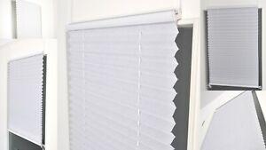 PLISSEE Jalousie Plisse Klemmfix Fenster Türe Faltrollo Sichtschutz Klemmträger