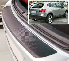 Nissan Qashqai (J10) - Carbon Style rear Bumper Protector