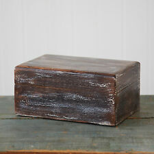 Fair Trade Antique Effect Mango Wood Box - Shabby Chic, Distressed Style