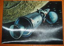 SPACE PLANET ROCKET lenticular 3D moviemotion POSTCARD vintage 1960