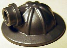 LEGO - Minifig, Headgear Helmet Mining with Head Lamp - Flat Silver