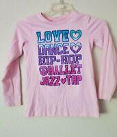 Sweet Girl's PLACE Graphics Love Dance Hip Hop Jazz Tap Size XL 14 Tee Shirt