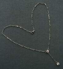 "SILVER HEART NECKLACE 16""  SOLID 925 STERLING"