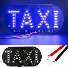 1x Hot Sale Taxi Cab Windscreen Windshield Sign Blue LED Light Lamp Bulb DC 12V