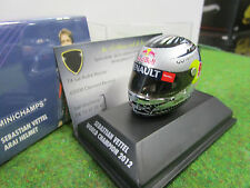 ARAI HELMET CASQUE F1 S.VETTEL WORLD CHAMPION 2012 au 1/8 d MINICHAMPS 381120201