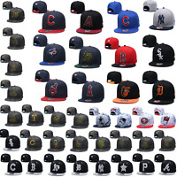 Stylish Embroidered MLB Team Logo Baseball Cap Snapback Adjustable Sports Hat
